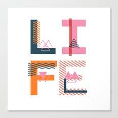 Geometric Type II Canvas Print