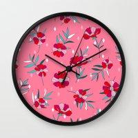 Pink Summer Wall Clock