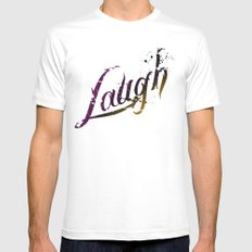 Laugh Mens Fitted Tee White SMALL
