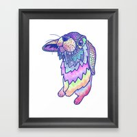 HAPPY EASTER RABBIT Framed Art Print