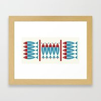 Red Fish, Blue Fish Framed Art Print