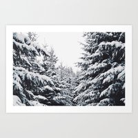 SNOWFOREST Art Print