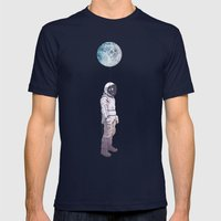 Moon Balloon Mens Fitted Tee Navy SMALL