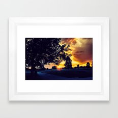 Sunset: City Park, Denver Framed Art Print
