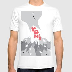 Yoni 2010 Feeder White Mens Fitted Tee SMALL