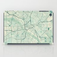 Dallas Map Blue Vintage iPad Case