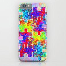 Autism Colorful Puzzle Pieces iPhone 6s Slim Case