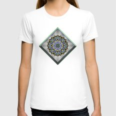Wild Blueberries Womens Fitted Tee White SMALL