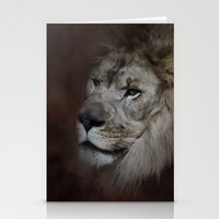 The Male Lion Stationery Cards