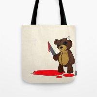 Psycho Teddy Tote Bag