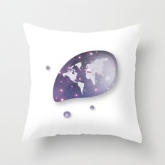 The World In Universe Re… Throw Pillow