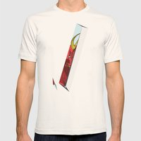 Strait Samurai Sword Mens Fitted Tee Natural SMALL