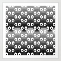 susuwatari pattern Art Print