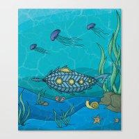 Nautilus Under The Sea Canvas Print