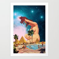 Art Print featuring The Sphinx by Eugenia Loli