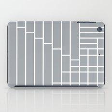 Fuzz Outline Grey iPad Case