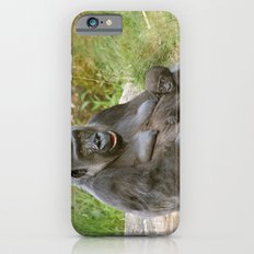 Gorilla Mother and Baby iPhone 6 Slim Case