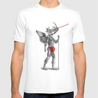 Angel Hunter Mens Fitted Tee White SMALL