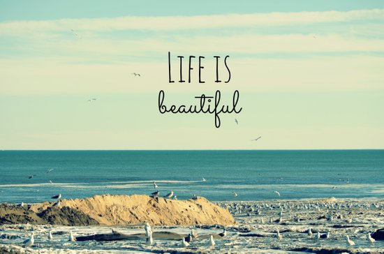 Life is Beautiful Art Print