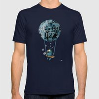 Where Clouds Come From. Mens Fitted Tee Navy SMALL