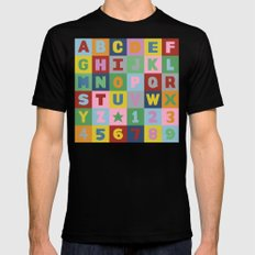 Alphabet Mens Fitted Tee SMALL Black