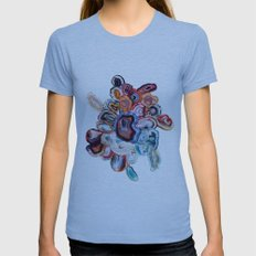 Earth's Loveliness, Agate Collection Womens Fitted Tee Athletic Blue SMALL