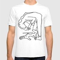 Bear Man to the Rescue Mens Fitted Tee White SMALL