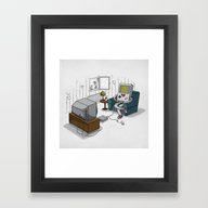 True Computer Love Framed Art Print