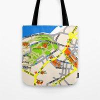 Tel Aviv Jaffa Map Desig… Tote Bag