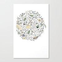 Circulo de flores Canvas Print