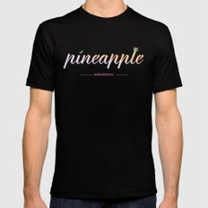 Pineapple Adventures Mens Fitted Tee SMALL Black