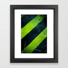 Warning! Framed Art Print