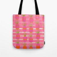 Pink Pineapples Tote Bag