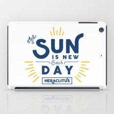 Heraclitus - The sun is new each day iPad Case