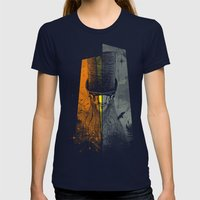 Preacher Man Womens Fitted Tee Navy SMALL