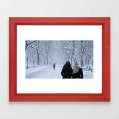Snow in Central Park II Framed Art Print
