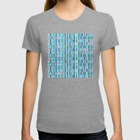 Blue water drops Womens Fitted Tee Tri-Grey SMALL