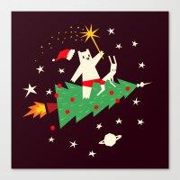 Space Christmas Canvas Print