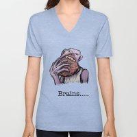 Brains.... Unisex V-Neck