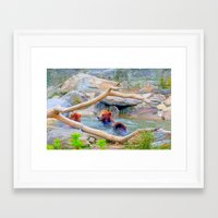 Wild Bears Framed Art Print