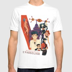 Evangelion Mens Fitted Tee White SMALL