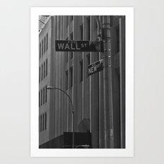 Wall Street Art Print