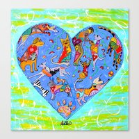 FURRY LOVE Canvas Print