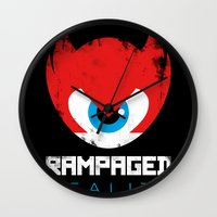 Rampaged Reality Wall Clock