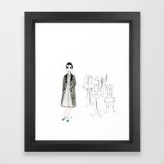 cafe girl Framed Art Print