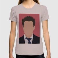Robert Downey Jr. Digital Portrail Womens Fitted Tee Cinder SMALL