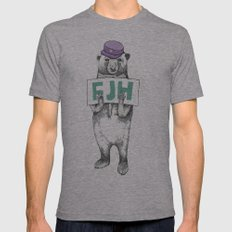 FJH-bear sign Mens Fitted Tee Athletic Grey SMALL