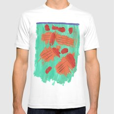 Traces on a grass... Mens Fitted Tee SMALL White