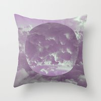 Purple Clouds Throw Pillow
