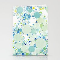 Watercolor Dots Stationery Cards